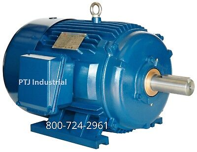20 Hp Electric Motor 256t 3600 Rpm 3 Phase Premium Efficient Totally Enclosed