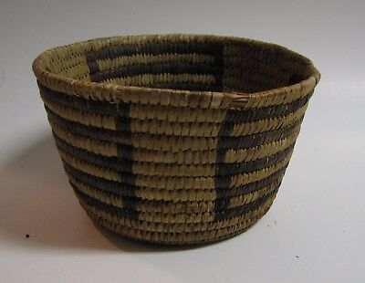 """Used, Early 20C Indian Basket, Handmade, Native American, 7"""" Diameter,4"""" TallAntique for sale  Nashville"""