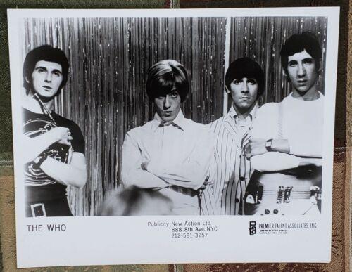 THE WHO 1968 PROMO Publicity Photo ORIGINAL Premier Talent Associates NY