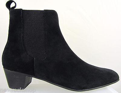 Chelsea Beatle Boots (Retro Mens Lennon Black Suede Boot Chelsea Beat Boots Cuban Heel Beatle)