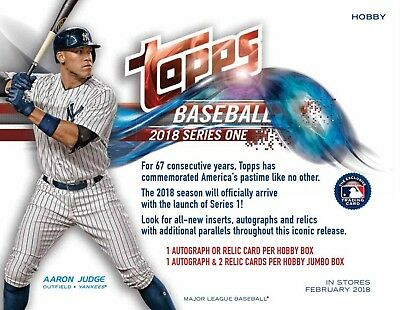 2018 Topps Series 1 Baseball (01/31) Sealed HTA Hobby JUMBO Box + 2 Silver Packs