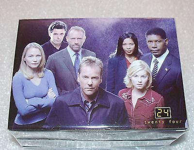 24 Twenty Four  Series 1 & 2   Complete Trading Card set Jack Bauer
