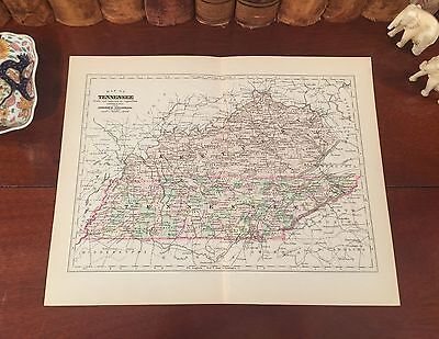 1839 TN MAP ANDERSON BEDFORD BENTON BLEDSOE BLOUNT COUNTY Tennessee History HUGE