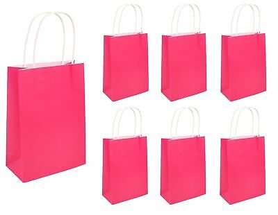 HEN PARTY BAGS PLAIN NEON PINK Girls Ladies Night Stag Do Goodies Favors Gift UK ()