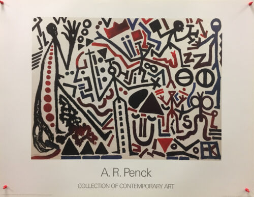 A.R.+Penck+-+The+Future+Of+The+Emigrant+-+Collection+of+Contemporay+Art+-+Poster