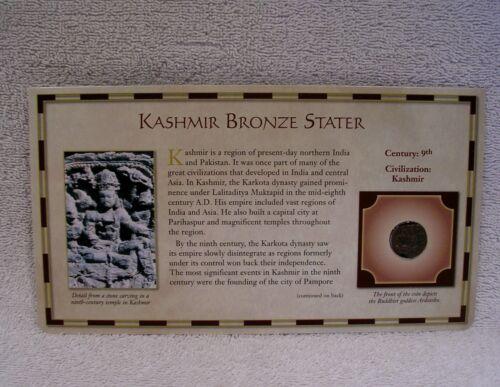 Kashmir Bronze Stater Coin -  9th Century