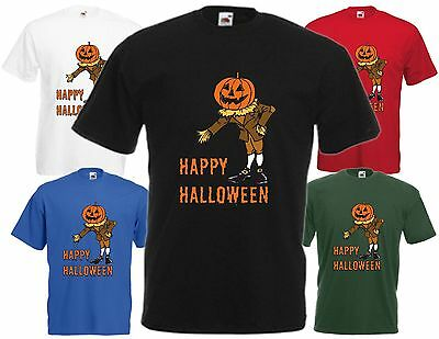 Happy Halloween Pumpkin Man T-Shirt Cool Spooky Humour Funny Party Scary Gift FC](Halloween Pumpkins Cool)