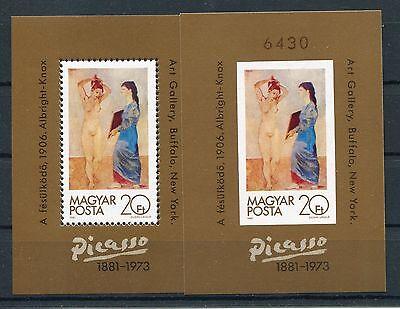 Ungarn Block 154 A + B postfrisch / Gemälde - Picasso .....................1/862