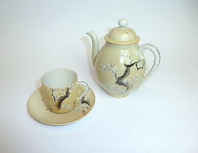 Tea Set Jug Eggshell Porcelain Japan Meiji um 1900 Tea Service B-4780