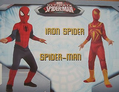 Ultimate Spiderman Iron Spider Kinder Kostüme 2 Kostüme Rubies 620525 Neu