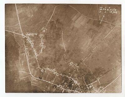 Cuts France - WW1 1918 Aerial Photo