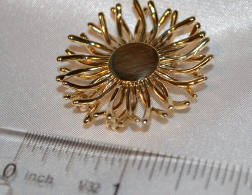 Vintage Tiffany & Co 14K Yellow Gold Flower Pin Free Shipping