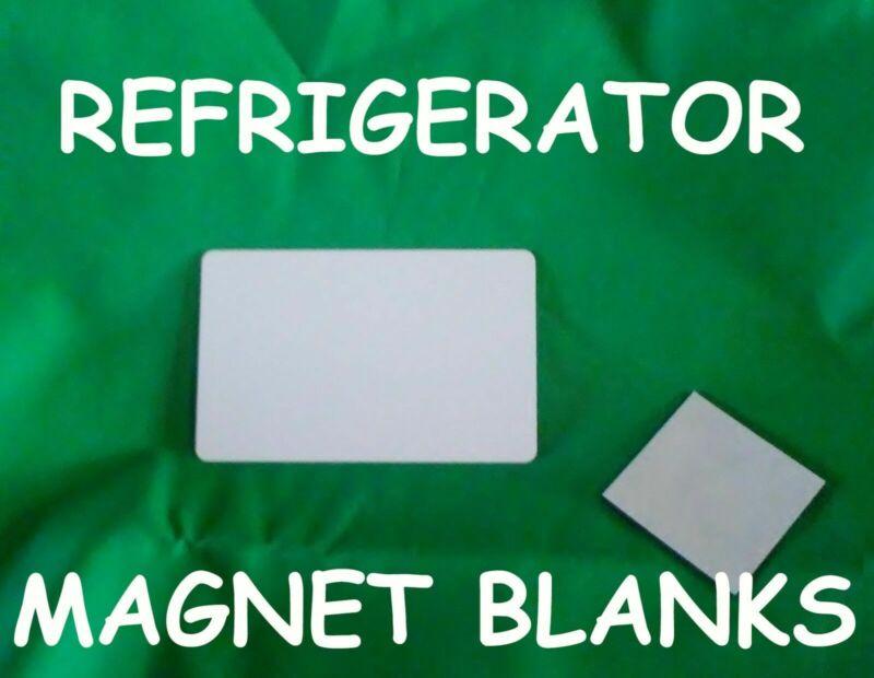 50ea Refrigerator Magnets Gloss White Aluminum Sublimation Blanks