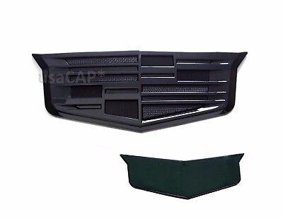 Cadillac Rear Trunk Lid Badge Emblem Decklid  Black Crest ATS CTS XTS 23237180