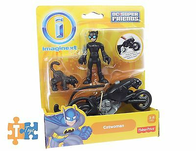 Catwoman Cat & Motorcycle Imaginext 2017 DC Super Friends Action Figure Set NEW