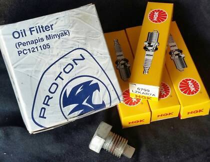 Oil Filter and Spark Plugs for Proton