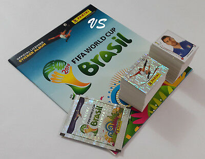 Panini 2014 FIFA World Cup Brazil Complete Loose Sticker Set + Empty Album