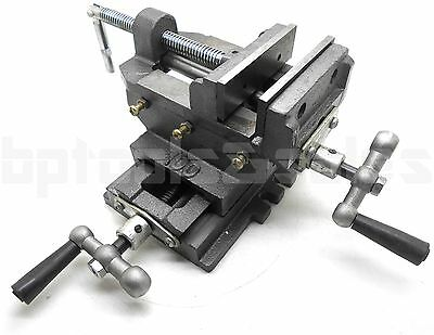 4 Cross Drill Press Vise X-y Clamp Heavy Duty Machine Slide Metal Milling 2 Way