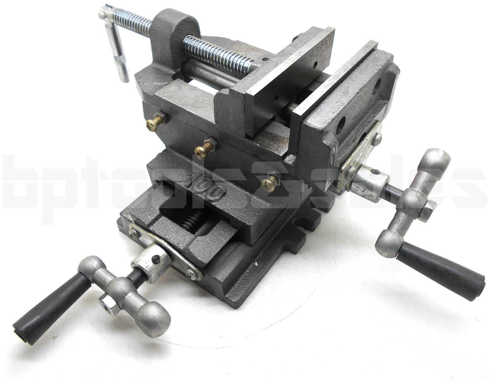 "4"" Cross Drill Press Vise Slide Metal Milling 2 Way X-Y Clam"