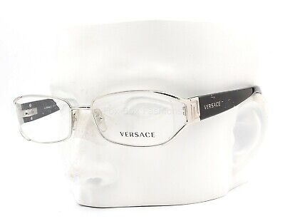 Versace MOD 1179 1000 Eyeglasses Glasses Silver / Black Clear 50-17-130 Display