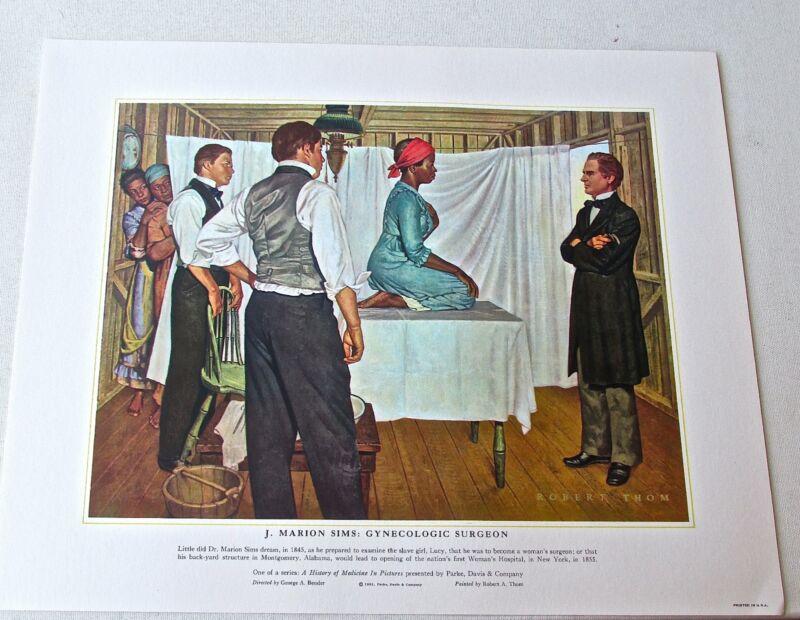 Medical+Art++J+Marion+Syms++Gynecologic+Surgeon+Vintage+Print+16x13+