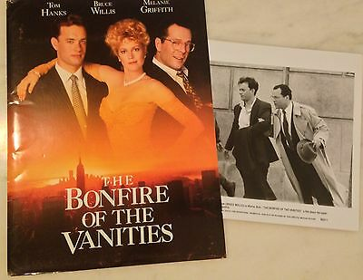 THE BONFIRE OF THE VANITIES (1990) Press Kit Folder, Photos; Tom Hanks