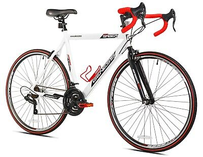 """700c Saber Genesis Men's Road Bike, Small, 30"""" Stand-Over Height, White"""