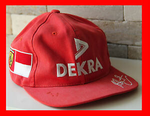 casquette cap ferrari michael schumacher scuderia f1 formule 1 dekra ms rouge ebay. Black Bedroom Furniture Sets. Home Design Ideas