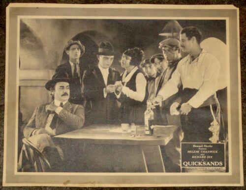 Original 1923 QUICKSANDS Lobby Card Richard Dix Helene Chadwick