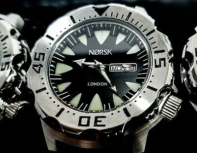 Sea Monster Watch, Norsk (medal winners, Norway) Diver, Citizen Movement - black