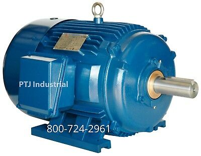 40 Hp Electric Motor 286ts 3600 Rpm 3 Phase Premium Efficient Severe Duty