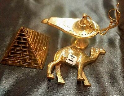 Genie Lamps (Big Sale Egyptian Solid Brass Pyramid,Genie Lamp Insence Burner and)