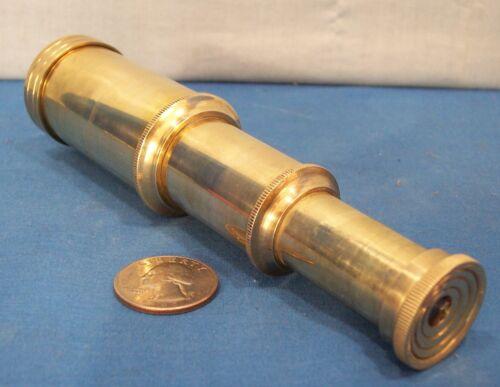 Solid Brass Spyglass ~ 3 Draw ~ Vest Pocket Telescope