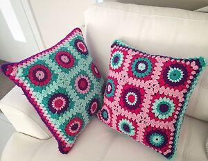 Hand made crochet cushions Morphett Vale Morphett Vale Area Preview