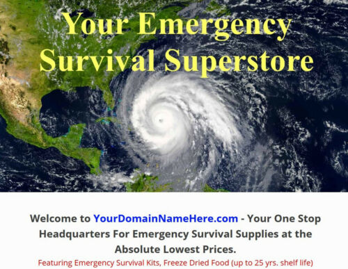 AMAZON AFFILIATE EMERGENCY SUPPLIES WEBSITE BUSINESS FOR SALE - FULLY STOCKED!