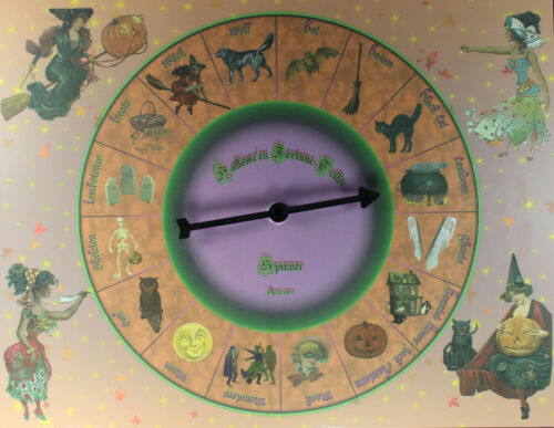 HALLOWEEN FORTUNE TELLER SPINNER Oracle Divination Telling Game Pagan Witch Card