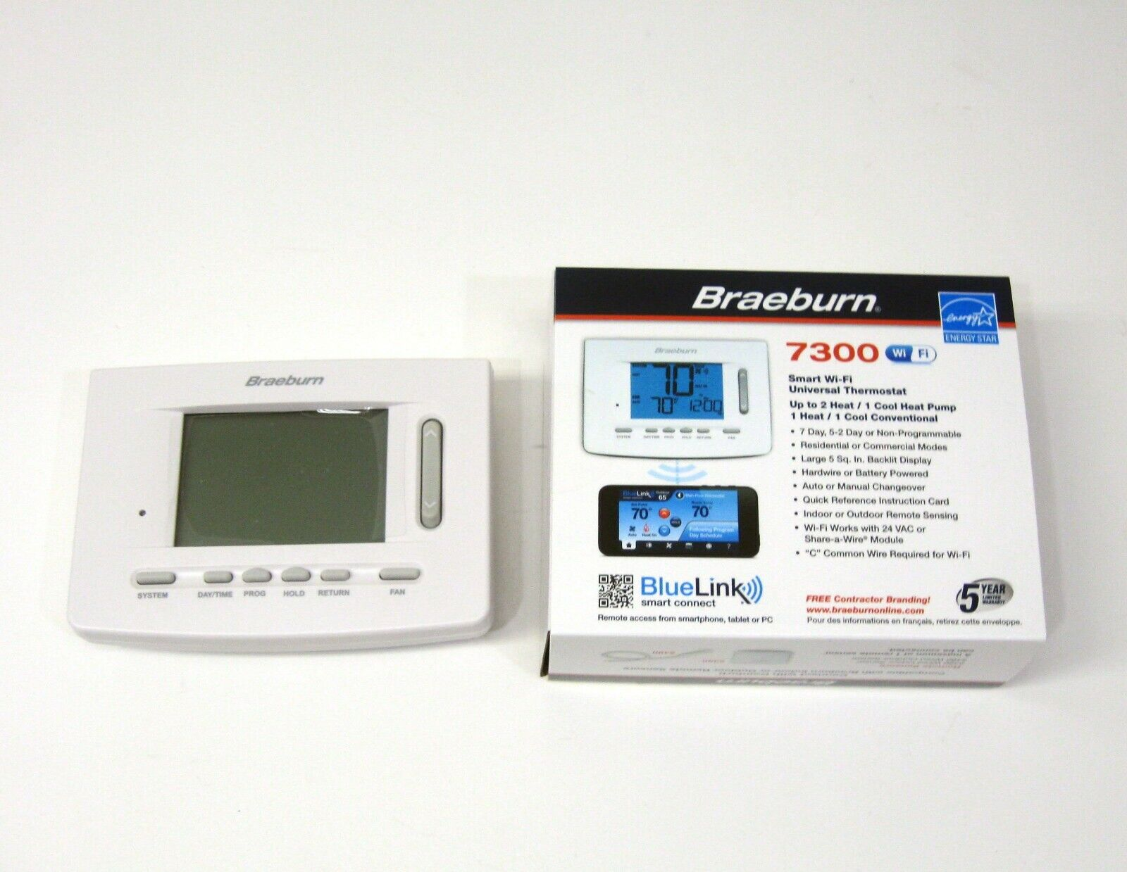 Braeburn 7300 Universal Smart Wi-Fi Programmable Thermostat