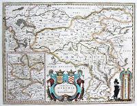 Janssonius: Orig. Vecchio Colore Incisione Cartina Geografica Ruhrgebiet -  - ebay.it