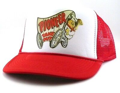 Pioneer Chicken Trucker Hat mesh hat snapback hat red new adjustable vintage - Chicken Hat