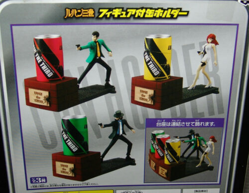 NEW Lupin The 3rd Figure with Can Holder COMPLETE 3 pc. set    USA SELLER