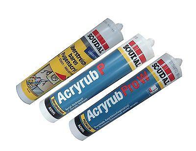 Soudal Acryl Acryrub P Acryrub Pro W Fugenacryl 310ml •Farbe + Artikel wählbar•