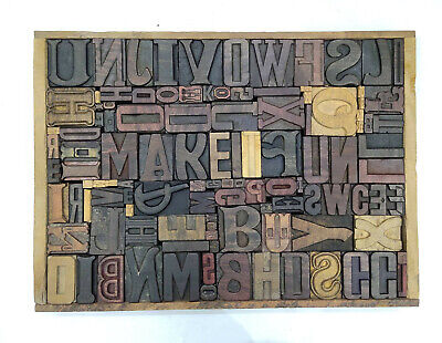 Letterpress Wood Types Collage Make It Fun 111 Vintage Mixed Wooden Typetc19