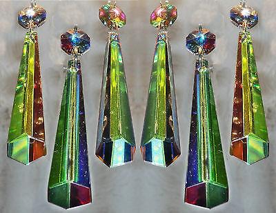 10 COLOUR AB CHANDELIER CUT GLASS CRYSTALS ICICLES SUN CATCHERS PRISMS DROPLETS