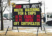 Large Portable Changeable Sign