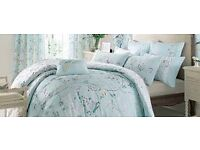 Dorma Maiya Duck Kingsize Duvet with two housewife pillowcases - excellent condition