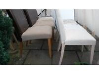 Dinner table chairs x10 - need re-covering
