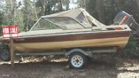 15ft 50hp mariner with trailer