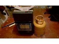 CALOR PORTABLE HEATER FREE STANDING HEATING CABINET BUTANE GAS HEATERS.WITH EMPTY BOTTLE