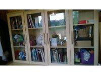 Bookshelves bookcase window glass display cabinet cupboard sideboard