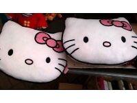 2 Hello Kitty cushions